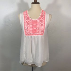 Collective Concepts Sleeveless Embroidered Tunic
